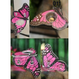 Butterfly Shaped Gecko Feeding Ledge - Pink
