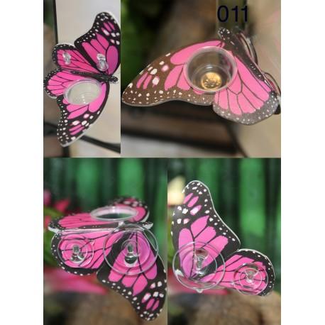 Butterfly Shaped Gecko Feeding Ledge - Pink