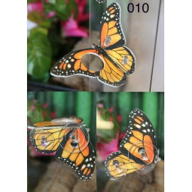 Butterfly Shaped Feeding Ledge - Orange
