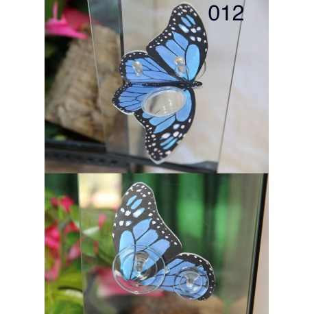 Butterfly Shaped Gecko Feeding Ledge - Blue