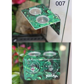 Double Feeding Ledge - Leafy Raindrop Design